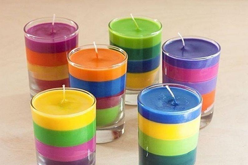 Разноцветные свечи - Декоративные свечи своими руками