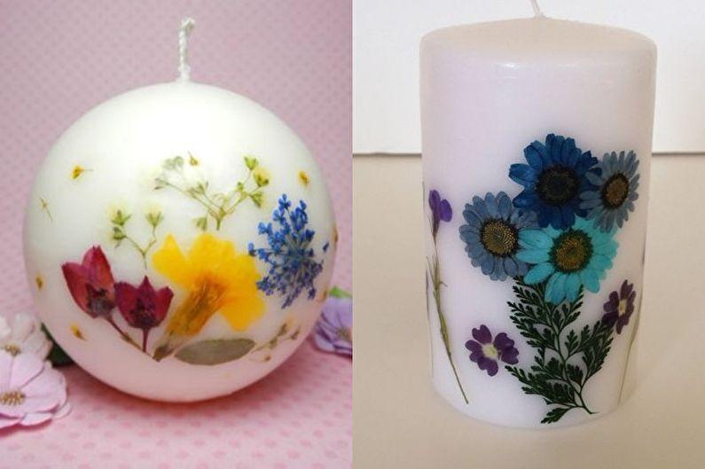 Цветочные свечи - Декоративные свечи своими руками
