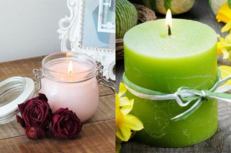 Ароматические свечи - Декоративные свечи своими руками