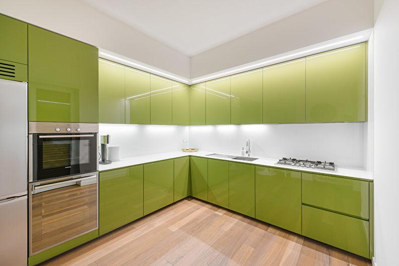 Дизайн оливковой кухни - Сочетания цветов