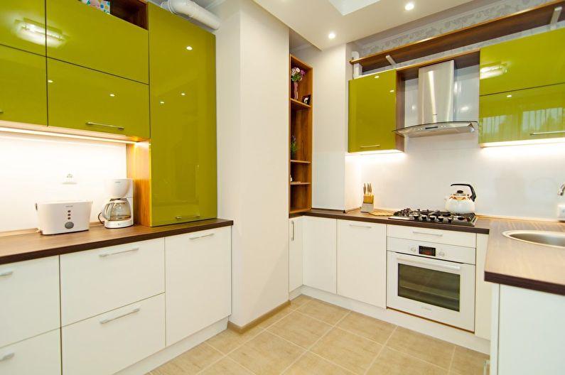 Дизайн оливковой кухни - Освещение