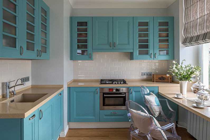 Дизайн бирюзовой кухни - Сочетание цветов
