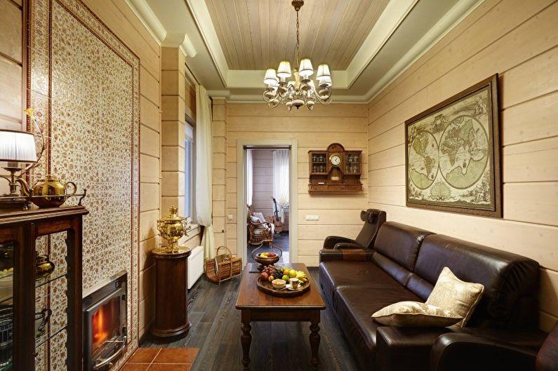 Гостиная в стиле кантри - Дизайн интерьера фото