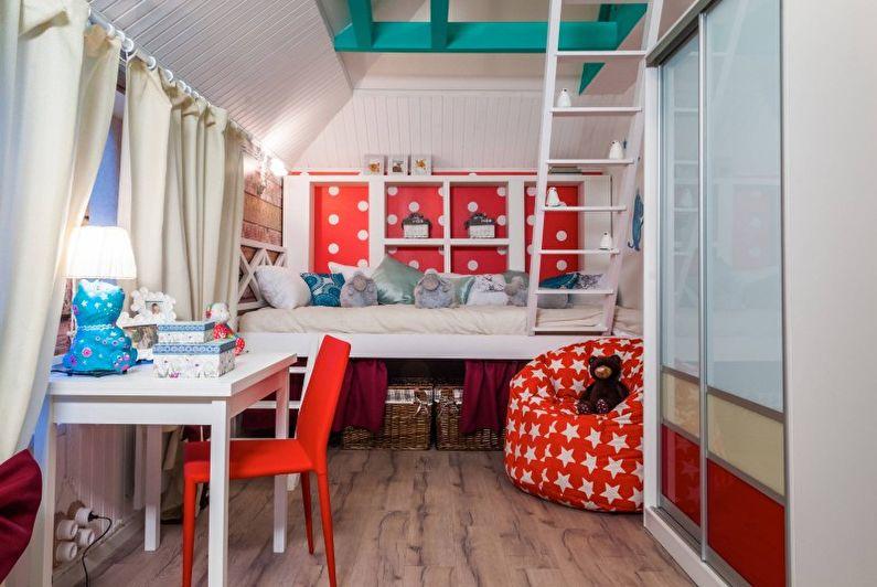 Детская комната в стиле кантри - Дизайн интерьера фото