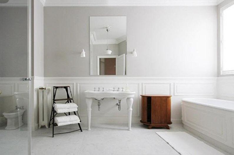 Белая ванная комната: 65 идей дизайна