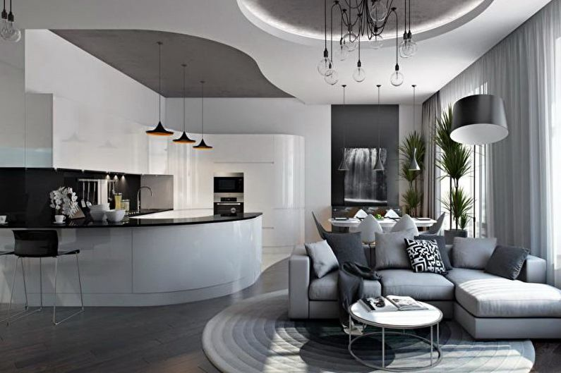 дизайн кухни студии 75 фото идеи интерьеров ремонт совмещенной кухни