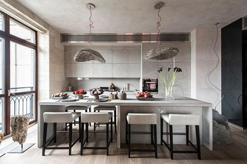 Серая кухня в интерьере: 80 фото-идей