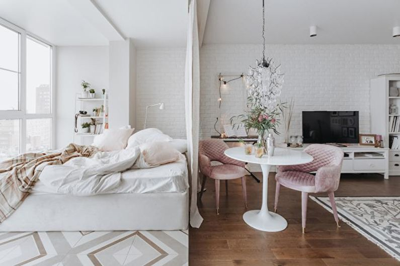 Зонирование комнаты на спальню и гостиную: 65 идей