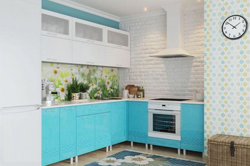 Бирюзовая кухня: 70 фото и идей дизайна
