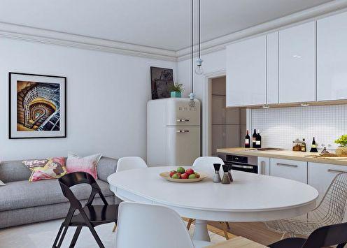 Дизайн квартиры-студии в хрущевке (65 фото)