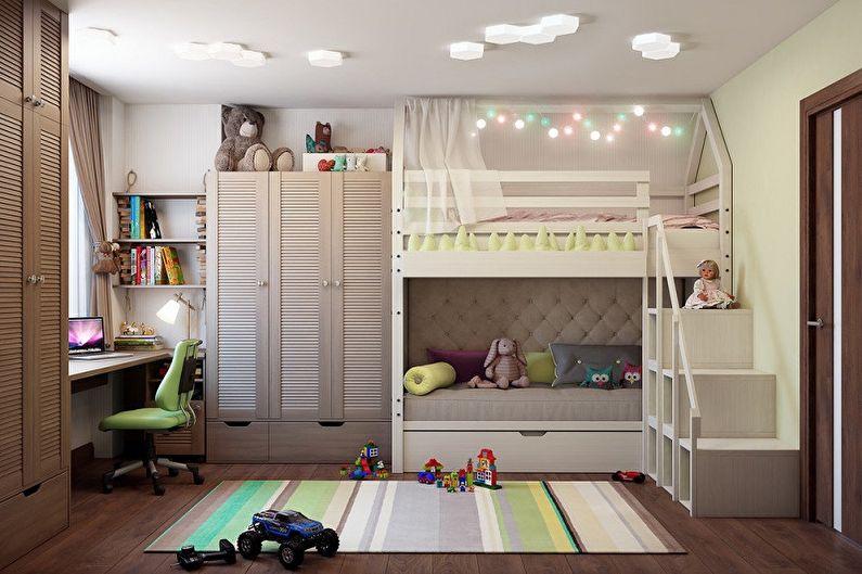 Дизайн детской для мальчика и девочки (75 фото)
