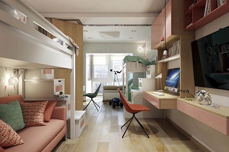 Дизайн детской комнаты для мальчика и девочки - Отделка пола
