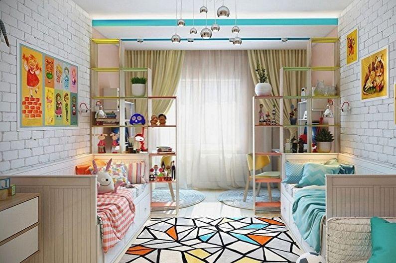 Дизайн детской для мальчика и девочки - 75 фото, красивые интерьеры, идеи для ремонта