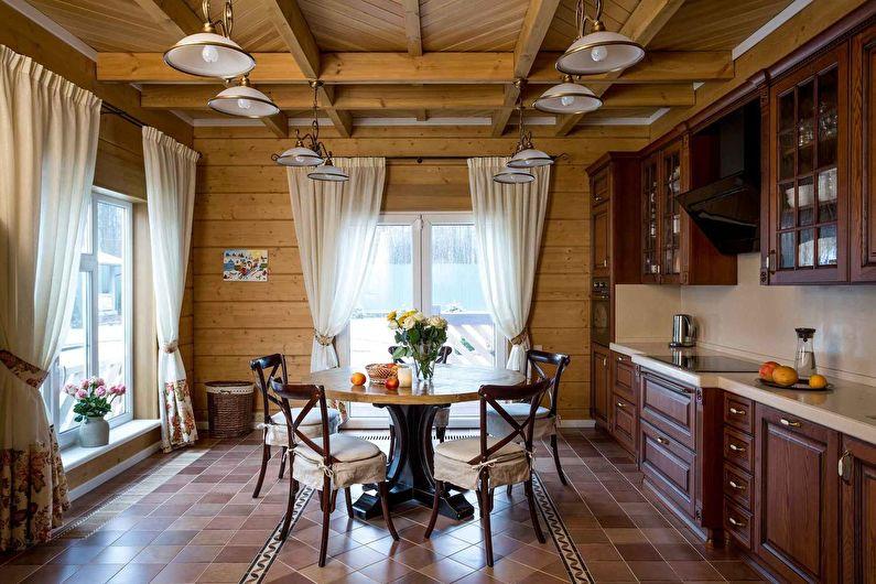 Кухня в стиле кантри - дизайн и отделка пола