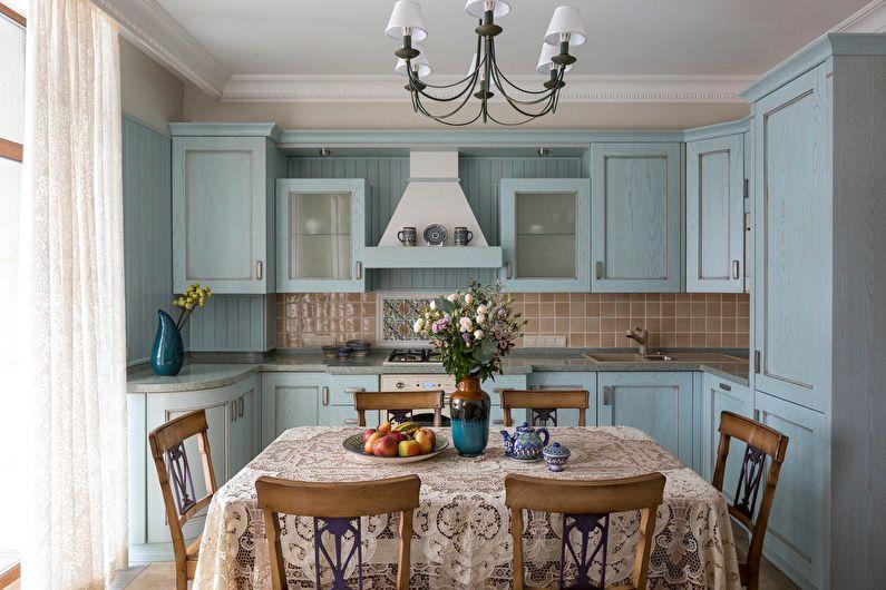 Кухня в стиле кантри - текстиль