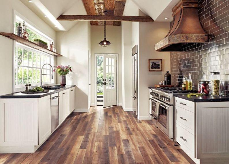 Дизайн кухни в стиле кантри - кухонный гарнитур