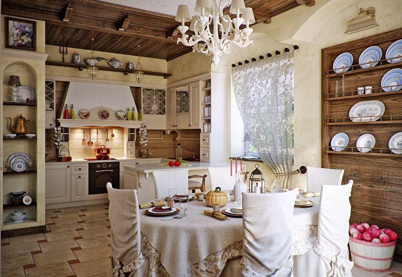 Декор кухни в стиле кантри - дизайн интерьера