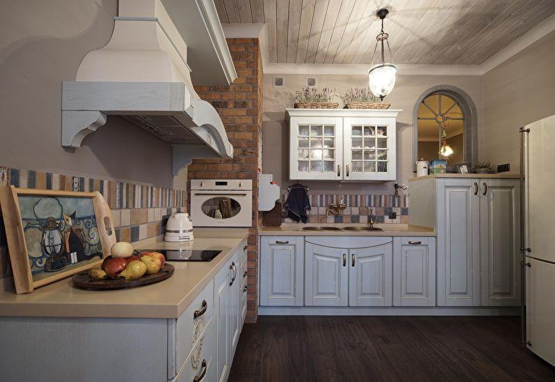Дизайн кухни в стиле кантри - Правильное освещение