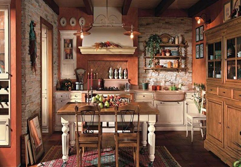 Дизайн интерьера кухни в стиле кантри - фото