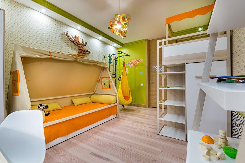 Дизайн детской комнаты для разнополых детей (52 фото)