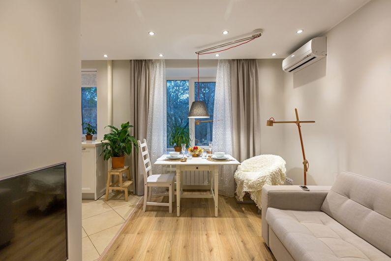 Перепланировка - Дизайн гостиной в хрущевке
