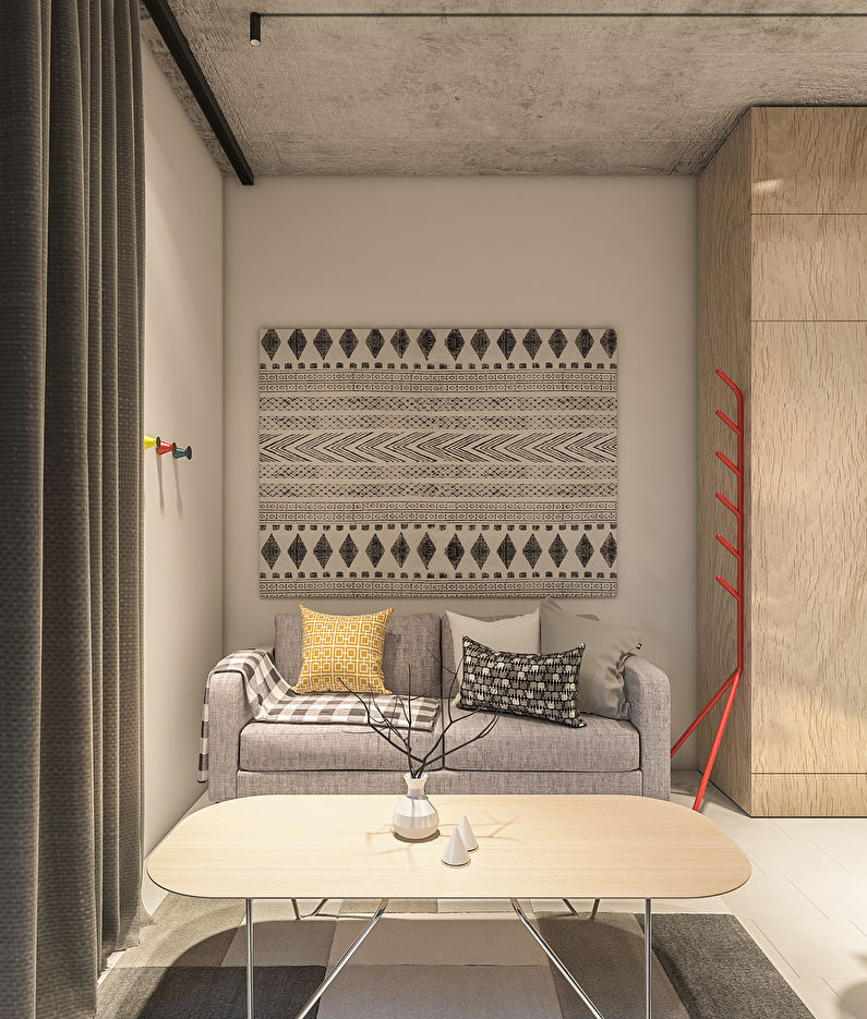 Дизайн интерьера гостиной в хрущевке - фото
