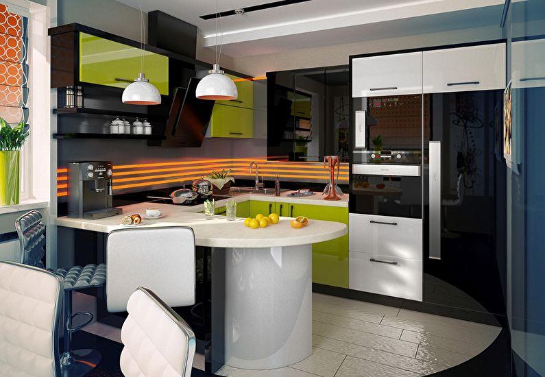 Дизайн интерьера кухни в стиле модерн