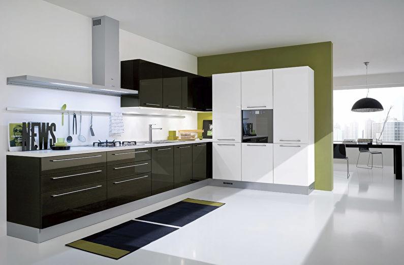 Кухня в стиле модерн - дизайн пола