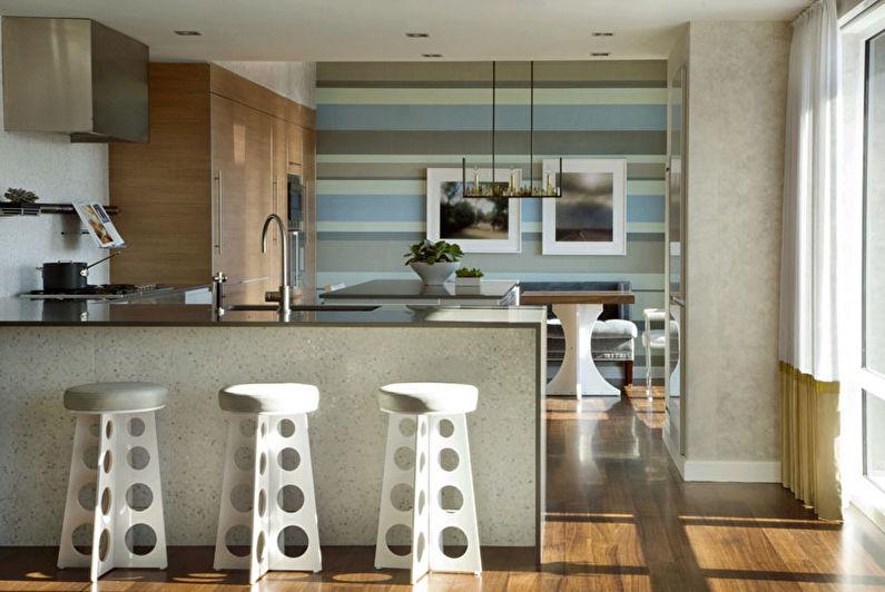 Кухня в стиле модерн - отделка стен