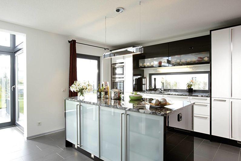 Кухня в стиле модерн - текстиль