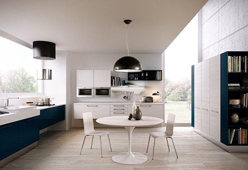 Дизайн кухни в стиле модерн - обеденная зона