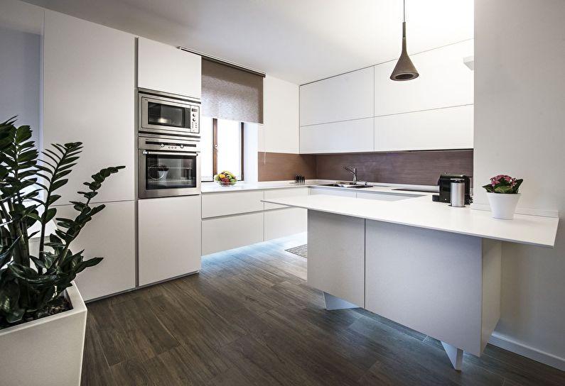 Дизайн кухни в стиле модерн - системы хранения