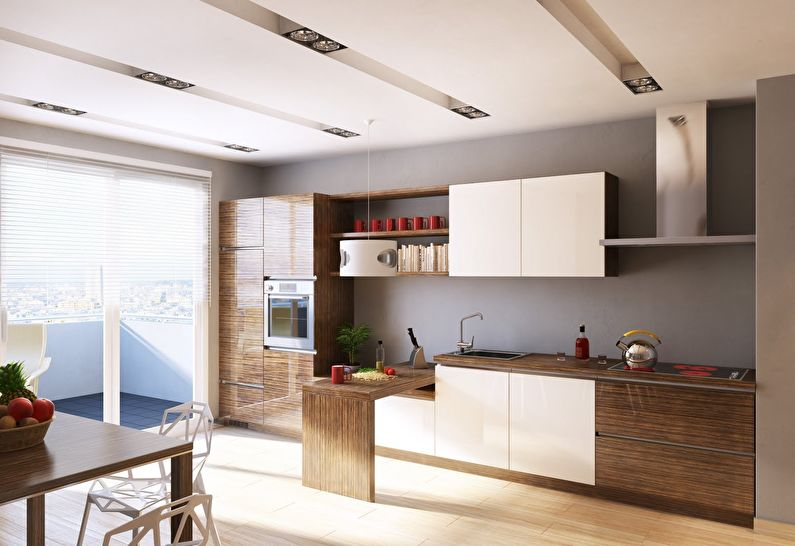 Дизайн кухни в стиле модерн - фото