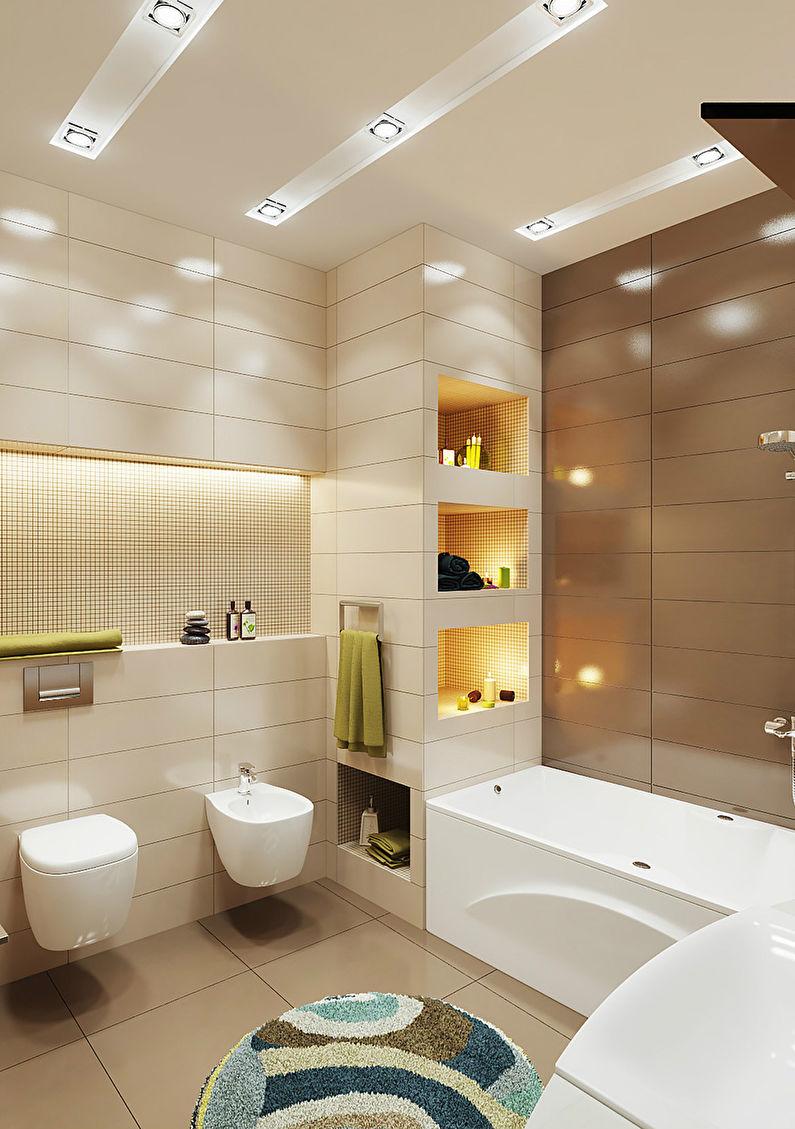 Ванная комната в коричневом цвете дизайн