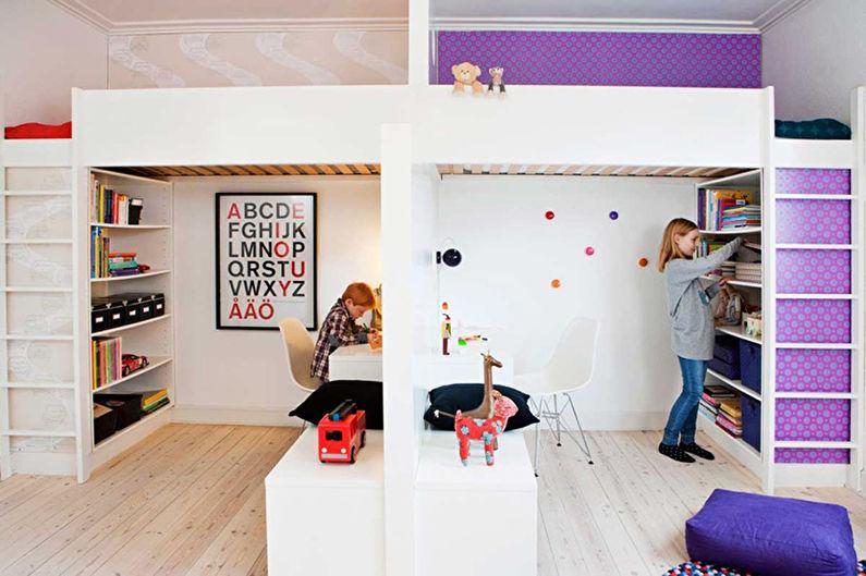 4a38621e9069 Дизайн детской комнаты для разнополых детей (52 фото) — Идеи интерьеров