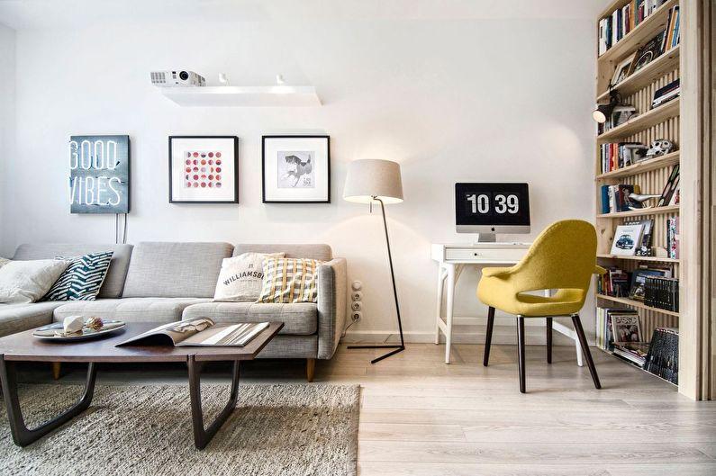 Гостиная в хрущевке: 65 идей для дизайна интерьеров