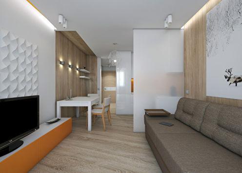 Интерьер квартиры 27 м2