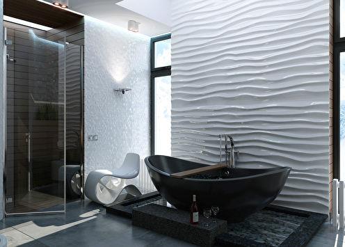 Ванная комната в загородном доме, Урал
