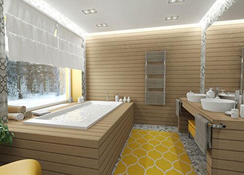 «Благородство серого»: Ванная в частном доме