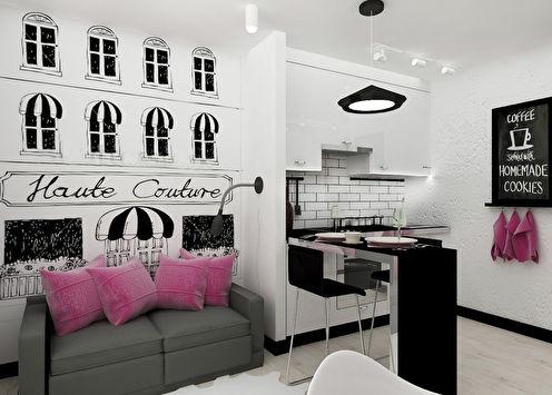 Однокомнатная квартира 22 кв.м. для девушки