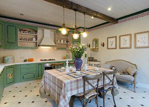 Романтичная кухня в стиле прованс