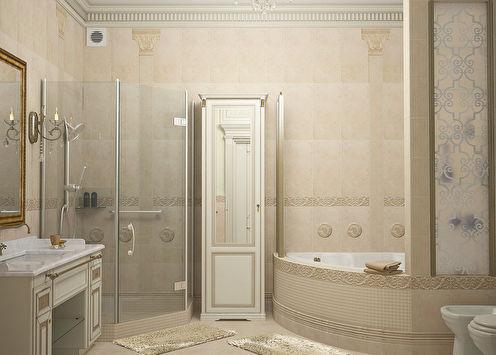 Ванная в классическом стиле, 11 м2
