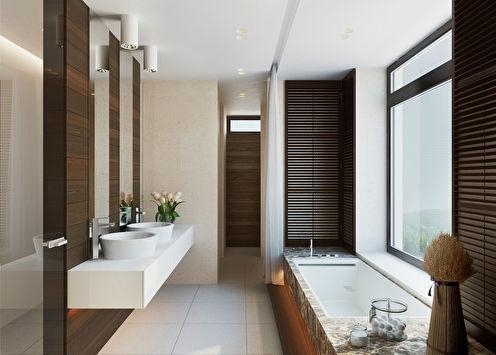 «В зоне комфорта и уюта»: Интерьер ванной