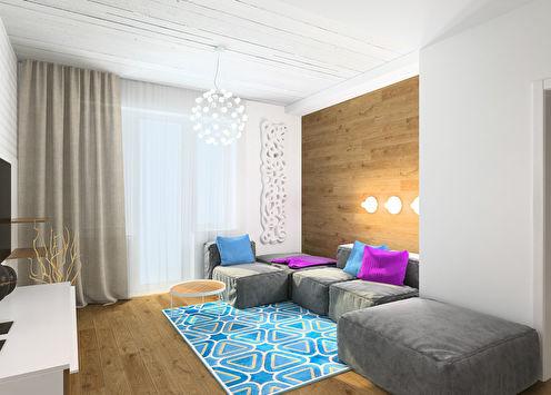 Небольшая квартира 40 м2 для молодой пары