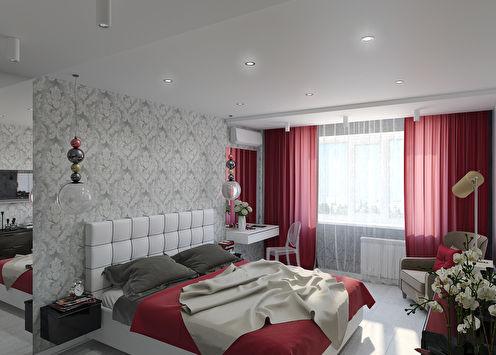 «Вдали от суеты»: Интерьер спальни