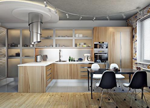 Дизайн кухни для художницы