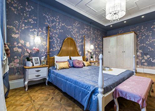 Дизайн спальни в стиле шинуазри