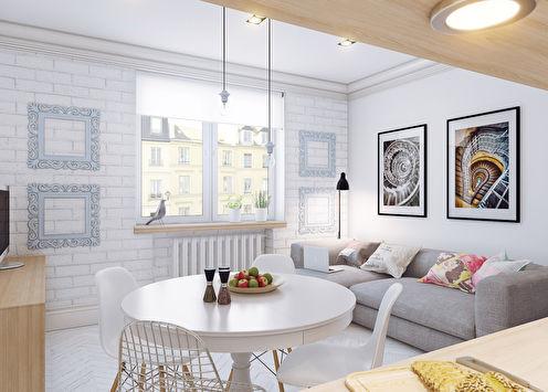 Дизайн маленькой квартиры, 25 кв.м.