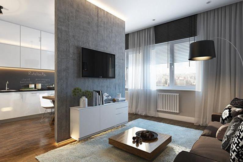 Дизайн однокомнатной квартиры 30 кв.м. - Планировка и зонирование