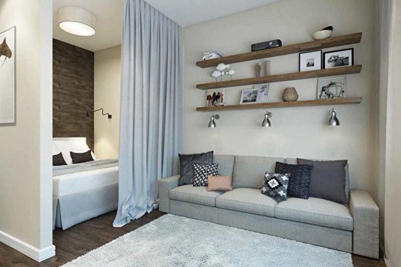 Дизайн однокомнатной квартиры 30 кв.м. - Ниша